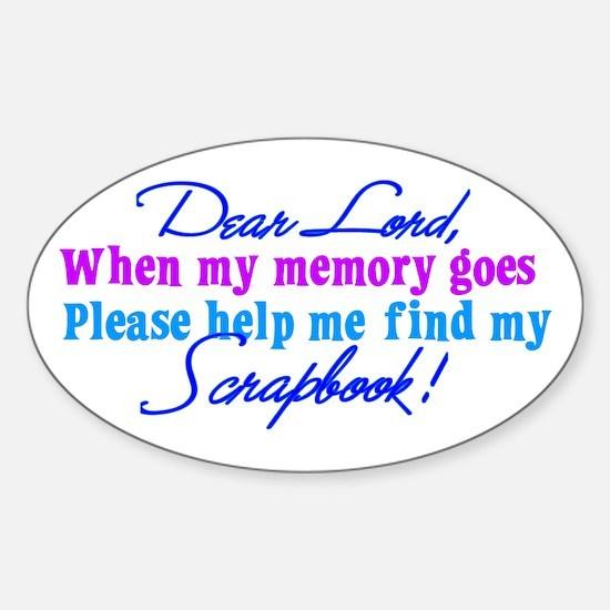 Dear Lord Sticker (Oval)