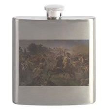 washington at monmouth Flask