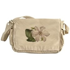 White Clematis Messenger Bag