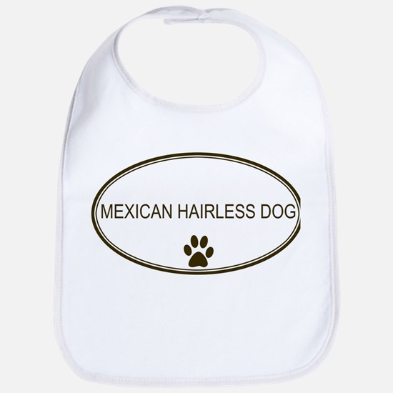 Oval Mexican Hairless Dog Bib