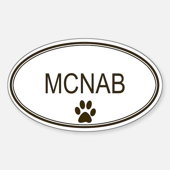 Oval McNab Oval Decal