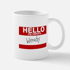 Hello My Name Is Wendy Small Small Mug