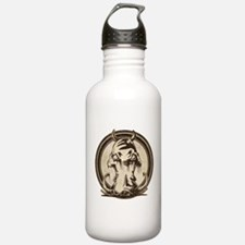 Distressed Wild Boar Stamp Water Bottle