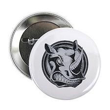 "Distressed Wild Rhino Stamp 2.25"" Button (10 pack)"