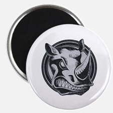 "Distressed Wild Rhino Stamp 2.25"" Magnet (10 pack)"