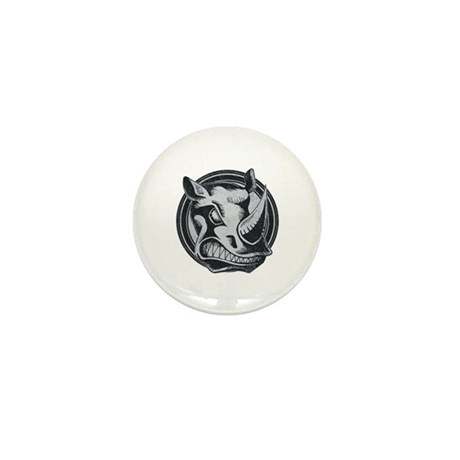 Distressed Wild Rhino Stamp Mini Button (10 pack)