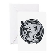 Distressed Wild Rhino Stamp Greeting Cards (20 pac