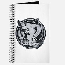 Distressed Wild Rhino Stamp Journal