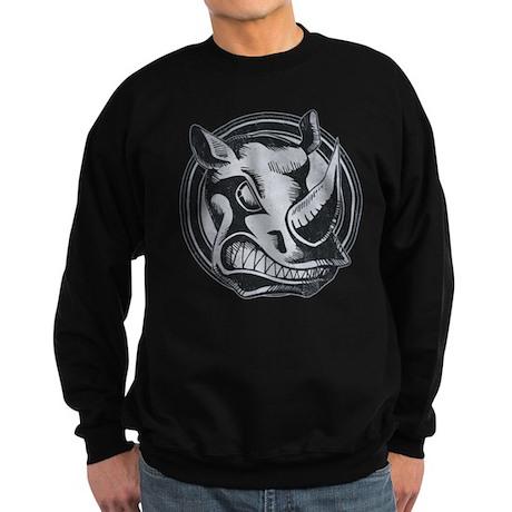 Distressed Wild Rhino Stamp Dark Sweatshirt