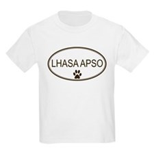 Oval Lhasa Apso Kids T-Shirt