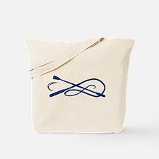 Blue Whip Crop Motif Tote Bag
