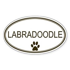 Oval Labradoodle Oval Decal