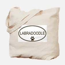 Oval Labradoodle Tote Bag