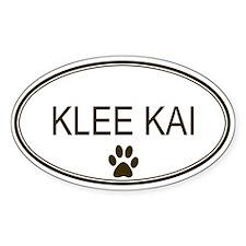 Oval Klee Kai Oval Decal