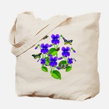 Violets and Butterflies Tote Bag