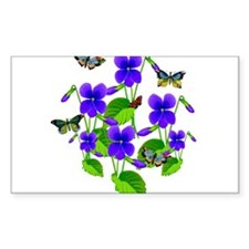 Violets and Butterflies Decal