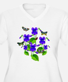 Violets and Butterflies Plus Size T-Shirt