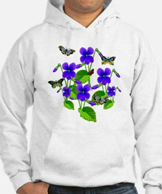 Violets and Butterflies Hoodie