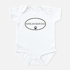 Oval Karelian Bear Dog Infant Bodysuit