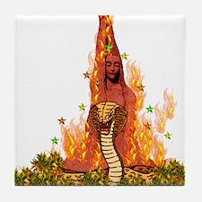 Fiery Snake Woman Tile Coaster