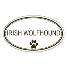 Oval Irish Wolfhound Oval Decal