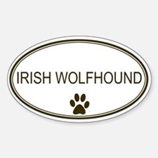Oval Irish Wolfhound Oval Decal