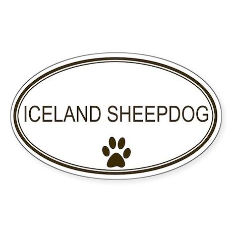 Oval Iceland Sheepdog Oval Sticker