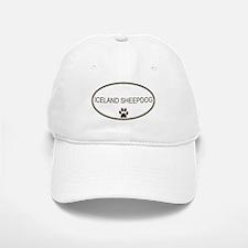 Oval Iceland Sheepdog Baseball Baseball Cap