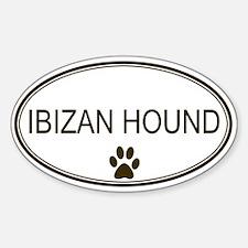 Oval Ibizan Hound Oval Decal