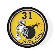 F-14 Tomcat VF-31 Tomcatters Wall Clock