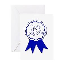 1st Place Ribbon Greeting Card