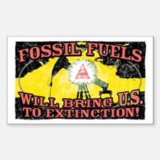 Fossil Fuels bring U.S. Rectangle Decal
