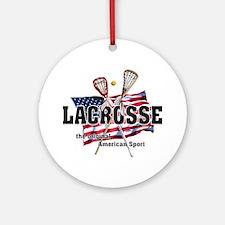 Lacrosse Ornament (Round)