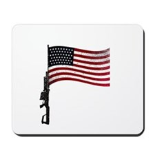 Gun Flag Black Mousepad
