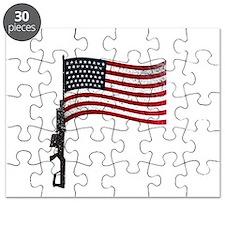Gun Flag Black Puzzle