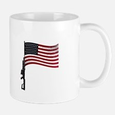 Gun Flag Black Mug