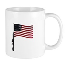 Gun Flag Black Small Mug