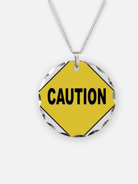Caution Sign Necklace