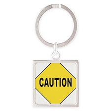 Caution Sign Keychains