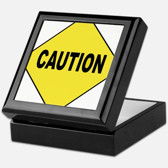 Caution Sign Keepsake Box