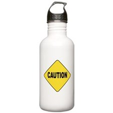 Caution Sign Water Bottle