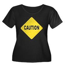 Caution Sign Plus Size T-Shirt