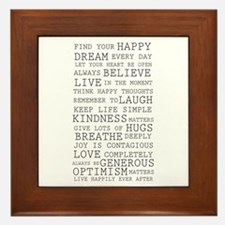 Positive Thoughts Framed Tile
