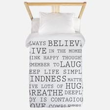 Positive Thoughts Twin Duvet