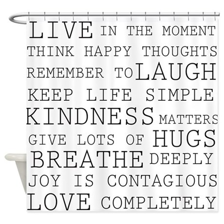 Positive Thoughts Shower Curtain