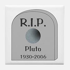 RIP Pluto Tile Coaster