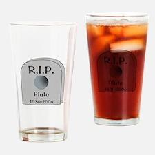 RIP Pluto Drinking Glass