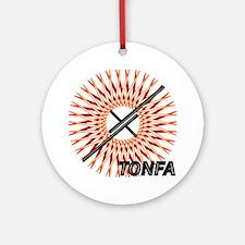 Martial Arts Tonfa Ornament (Round)