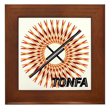 Martial Arts Tonfa Framed Tile
