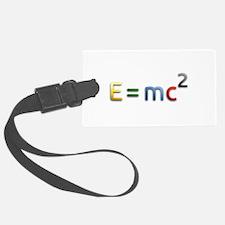 Einstein E=mc2 Luggage Tag